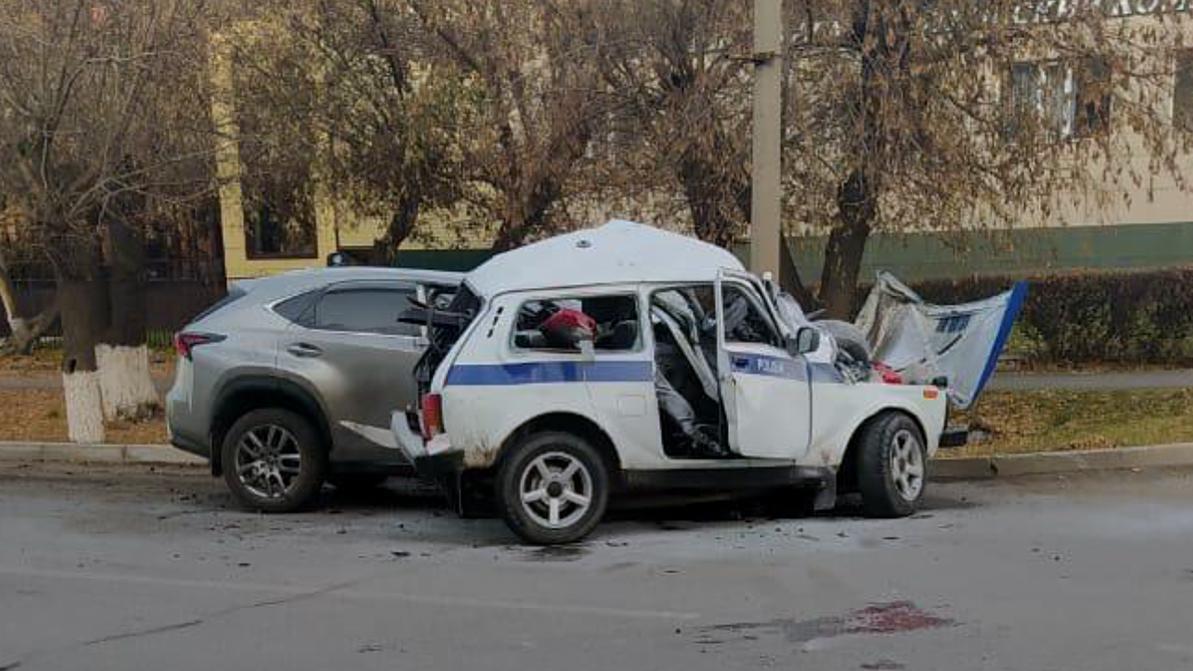 Водитель Lexus, влетевший в полицейскую «Ниву», был пьян