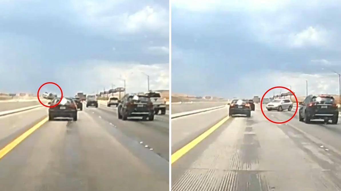 Видео дня: Toyota Highlander исполнил сальто через разделитель