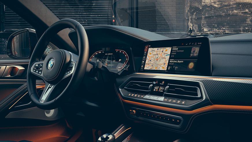 BMW X6 вознаградят огромными экранами
