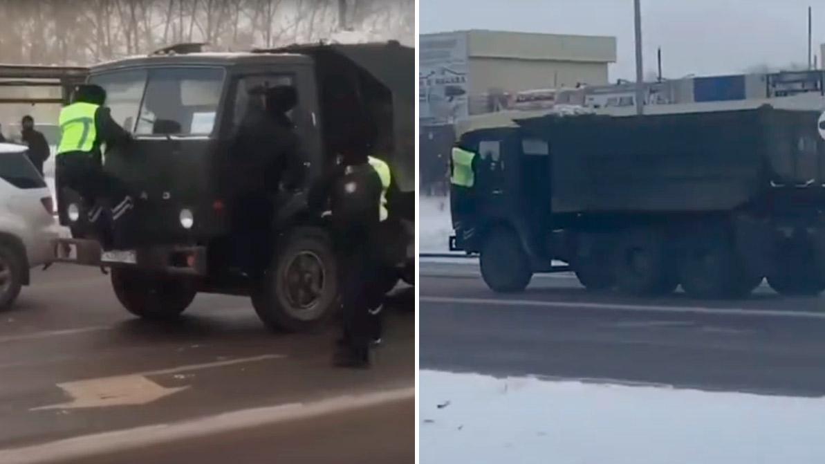Видео: КАМАЗ против полиции. Что это было?