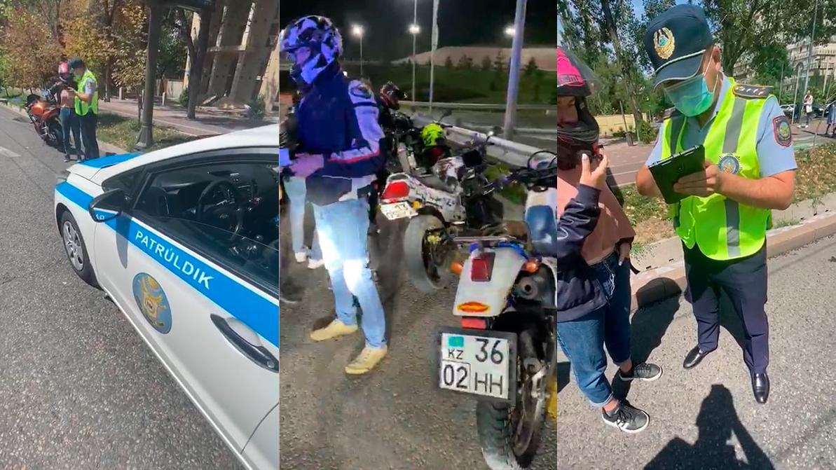 56 мотоциклистов оштрафовали в Алматы за сутки
