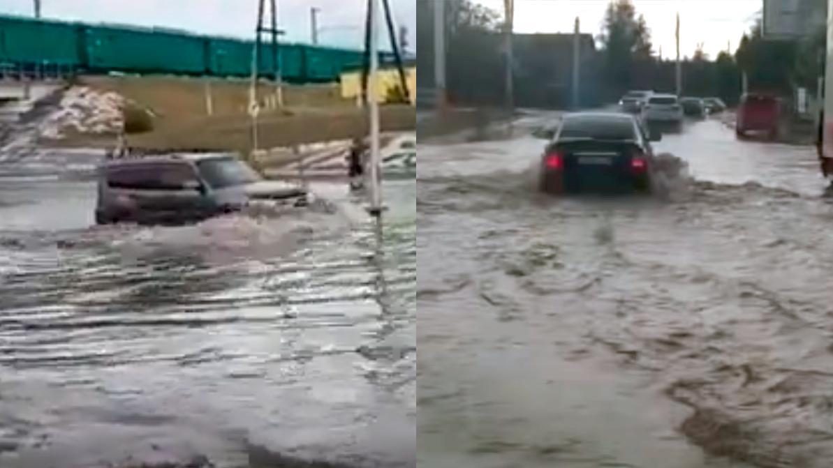 Плавучий Костанай. Машины тонули на улицах города