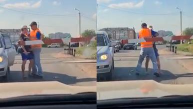 Водителя оштрафовали за попытку проскочить через ж/д переезд