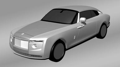 Загадочный Rolls-Royce появился на патентных рисунках