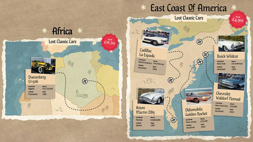 Карта пропавших легендарных машин: наследникам капитана Флинта посвящается