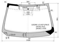 Стекло лобовое в клей Renault Logan 14- за 15 750 тг. в Алматы
