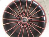 Диски литые ijitsu 1277 4x98 r17# 507 черные спицы с красной полеролью за 41 250 тг. в Тольятти – фото 3