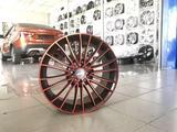 Диски литые ijitsu 1277 4x98 r17# 507 черные спицы с красной полеролью за 41 250 тг. в Тольятти – фото 2