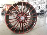 Диски литые ijitsu 1277 4x98 r17# 507 черные спицы с красной полеролью за 41 250 тг. в Тольятти