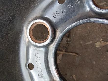 Оригинальные металлические диски на Mercedes (R16 5*112 ЦО66.6 7J за 45 000 тг. в Нур-Султан (Астана) – фото 6
