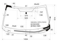 Стекло лобовое с обогревом щеток в клей Subaru Forester 08-13 за 18 500 тг. в Алматы