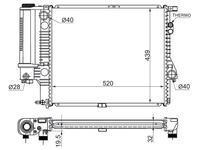 Радиатор BMW 5-Series e39 2.0/2.3/2.8 95-03 за 27 200 тг. в Алматы