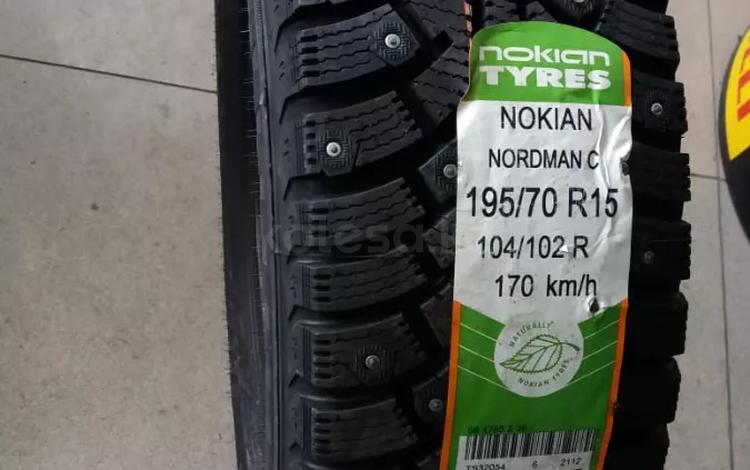 195/70 R 15 C 104/102r Nokian Nordman C зимние шипованные шины за 36 000 тг. в Алматы