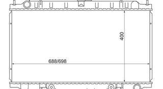 Радиатор Nissan Cefiro Maxima Infinity i30 2.0/2.5/3.0 94-98 за 15 850 тг. в Алматы