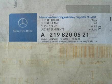 Повторитель поворота левого зеркала A2198200521 mercedes-benz за 15 000 тг. в Алматы – фото 3