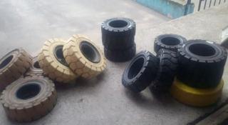 Шины литые и пневматические для погрузчиков и спецтехники в Алматы