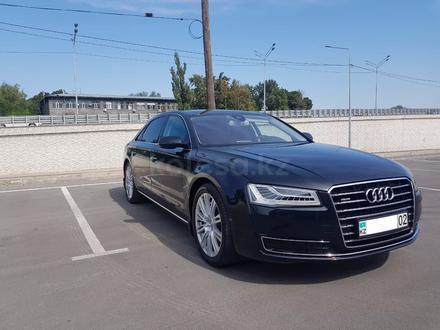 Audi A8 2014 года за 17 700 000 тг. в Алматы – фото 2