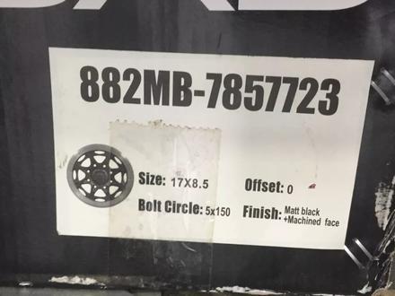 Новые диски r17 5x150 на все модели DVB Kipardo Wheel за 350 000 тг. в Нур-Султан (Астана) – фото 4