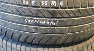 Резина 205/55 r16 Continental, 2колеса за 22 000 тг. в Алматы