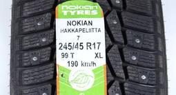 Комплект зимних шин Nokian Hakkapelitta 7. 245/45 R17 за 48 000 тг. в Алматы