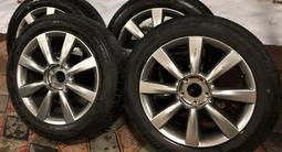 Шины летние Bridgestone 225/55/r18 на дисках r18 на Infiniti/Nissan за 150 000 тг. в Алматы – фото 3