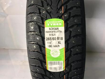 Зимние шипованные шины Nokian Hakkapeliitta 9 SUV 275/50 r21 113t за 500 000 тг. в Алматы – фото 2