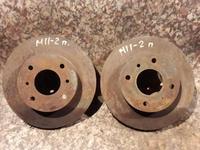 Диски тормозные передние на Nissan Prarie PRO, v2.0, 2.4 (1991… за 4 500 тг. в Караганда