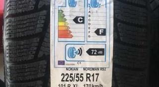 Шины Nokian 225/55/r17 Nordman RS2 за 39 500 тг. в Алматы
