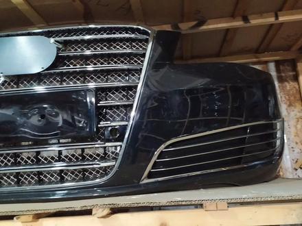 Бампер передний на Audi a8 d4 w12 дорестайлинг за 550 000 тг. в Алматы – фото 2