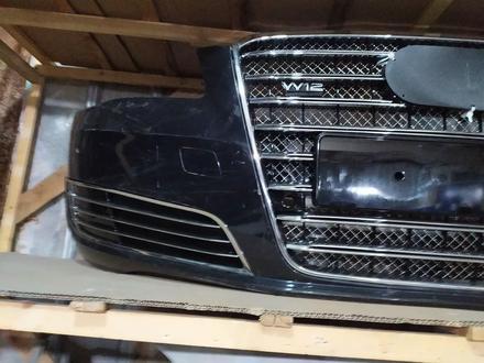 Бампер передний на Audi a8 d4 w12 дорестайлинг за 550 000 тг. в Алматы – фото 3