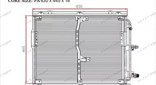 Радиатор кондиционера w140 за 33 000 тг. в Караганда