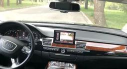 Audi A8 2011 года за 9 500 000 тг. в Алматы – фото 4