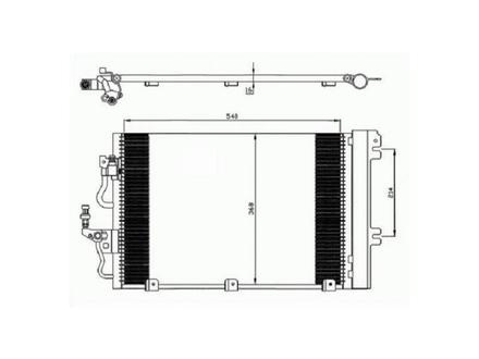 Радиатор кондиционера на OPEL ASTRA H 04-10 за 32 000 тг. в Нур-Султан (Астана)