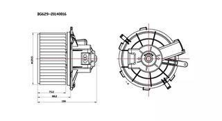 Мотор печки TOYOTA CAMRY 40 за 25 000 тг. в Нур-Султан (Астана)