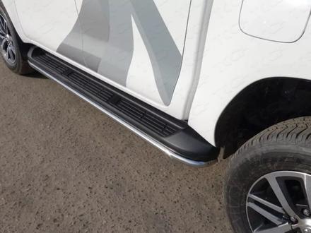 Пороги алюминиевые с пластиковой накладкой 1920 мм код toyhilux15- за 150 000 тг. в Нур-Султан (Астана)