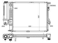 Радиатор на BMW 5-SERIES E39 95-03 за 34 200 тг. в Нур-Султан (Астана)