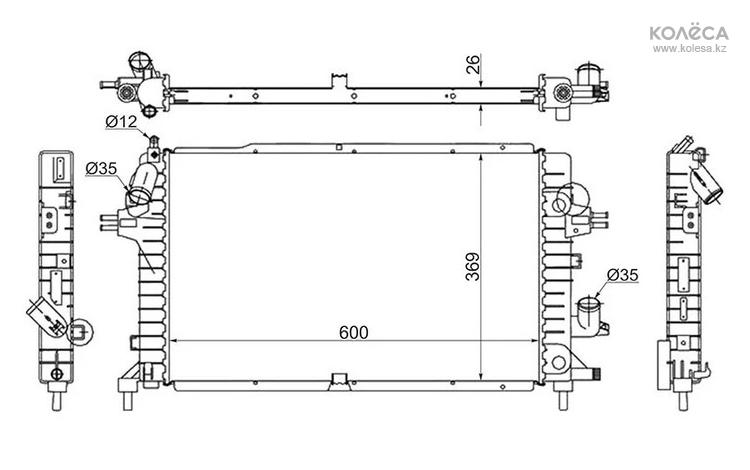 Радиатор пластинчатый на OPEL ASTRA H 04-10 за 33 000 тг. в Нур-Султан (Астана)