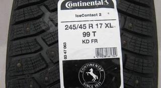 Шины Continental 245/45/r17 Ice contact 2 за 60 000 тг. в Алматы