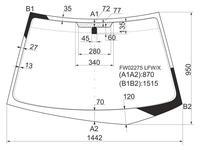 Стекло лобовое в клей Mitsubishi Lancer 4/5d 00-07 за 14 550 тг. в Алматы