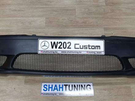 Передний бампер Custom для Mercedes Benz w202 за 45 000 тг. в Алматы – фото 2