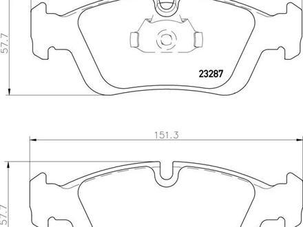 Колодки передние BMW e36 (1.6-2.5) (90-98) за 3 000 тг. в Алматы – фото 2