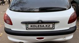 Peugeot 206 2002 года за 1 100 000 тг. в Алматы – фото 4