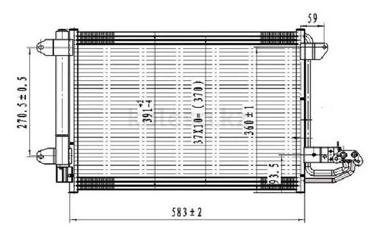 Радиатор кондиционера на SKODA SUPERB 08- за 30 900 тг. в Нур-Султан (Астана)