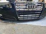 Передний бампер на Audi A8D4 за 330 000 тг. в Актобе – фото 2