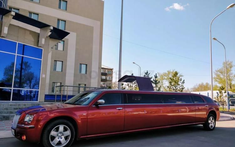 Лимузин Крайслер красный и белый на 10 мест в Павлодар