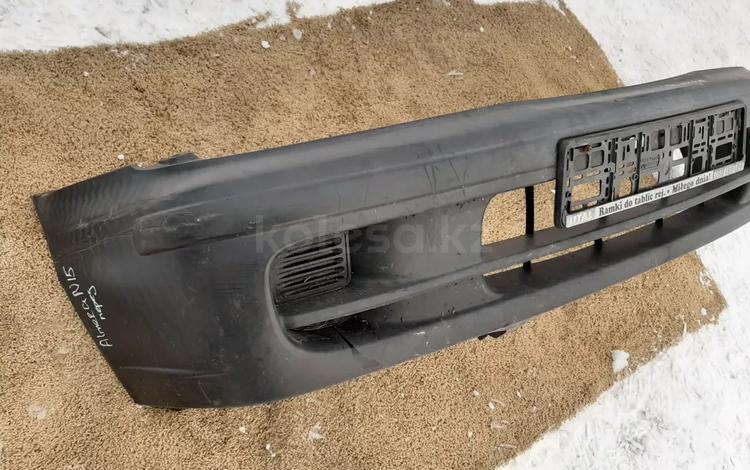 Бампер оригинальный Ниссан Альмера н15 Nissan Almera n15 за 32 000 тг. в Семей
