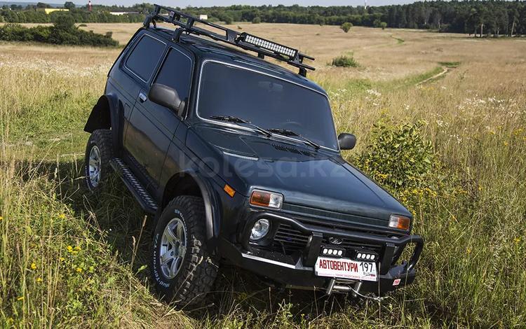 Бампер РИФ передний ВАЗ Нива с защитной дугой и площадкой… за 162 000 тг. в Алматы
