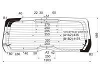 Стекло заднее (крышка багажника) с обогревом в клей (триплекс) Volvo… за 20 500 тг. в Алматы