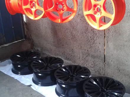 Покраска реставрация дисков. в Алматы – фото 87