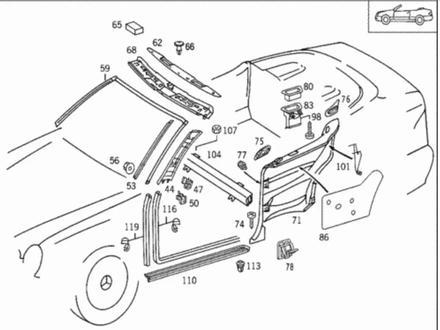 Основание виндшот переборки Мерседес CLK w208 кабриолет за 80 000 тг. в Караганда – фото 2